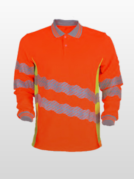 HI-VIS LONG SLEEVE POLO SHIRTS-0