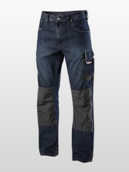 FIRE RESISTANT DENIM CARGO TROUSERS-0