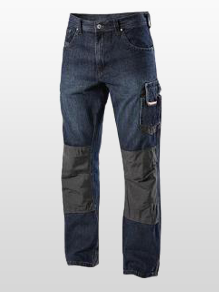 LIGHTWEIGHT DENIM CARGO TROUSERS-0
